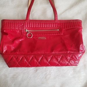 COACH patent leather red purse